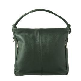 Moderne rummelig håndtaske i grønt læder