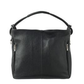 Håndtasken Nanette i sort læder