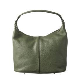 Håndtaske i grøn læder