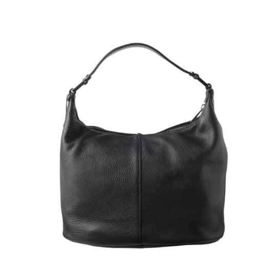 Håndtaske i sort læder